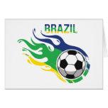 Bola de futebol de Brasil Cartão Comemorativo