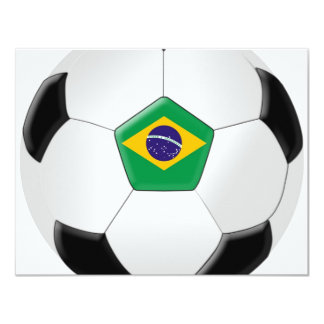 Bola de futebol de Brasil Convite 10.79 X 13.97cm