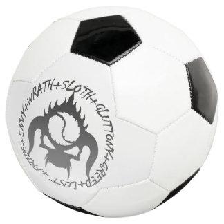 Bola de futebol de sete pecados mortais