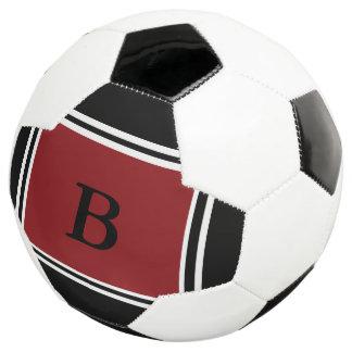 Bola De Futebol Design-Borgonha contemporânea/preto