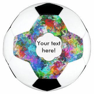 Bola De Futebol Design colorido do abstrato da mistura