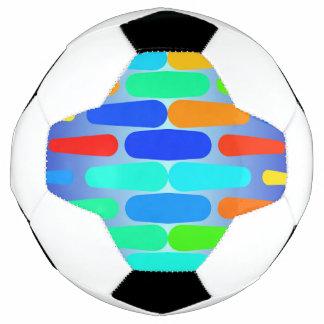 Bola De Futebol Design colorido do abstrato das formas