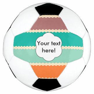 Bola De Futebol Design do abstrato das fileiras do Rhombus