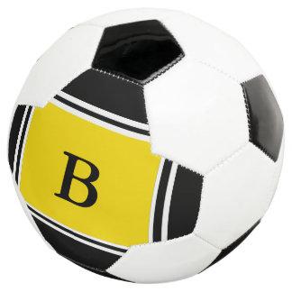 Bola De Futebol Design-Preto contemporâneo/amarelo