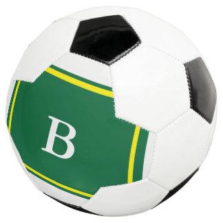 Bola De Futebol Design-Verde contemporâneo/amarelo
