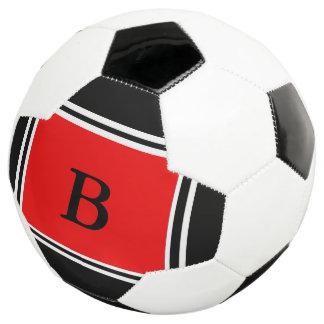 Bola De Futebol Design-Vermelho contemporâneo/preto