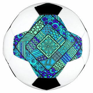 Bola De Futebol Do abstrato verde do azul de Boho teste padrão