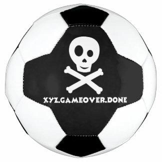 Bola de futebol do crânio