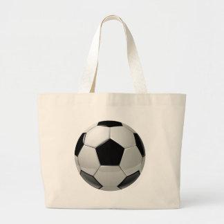 Bola de futebol do futebol sacola tote jumbo