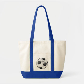 Bola de futebol do monograma bolsas
