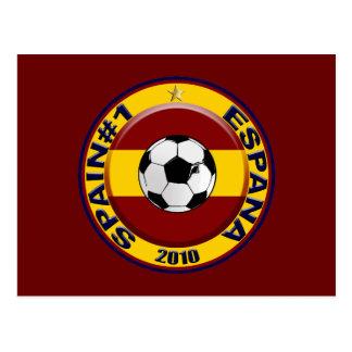 Bola de futebol do número 1 do futebol da espanha cartão postal