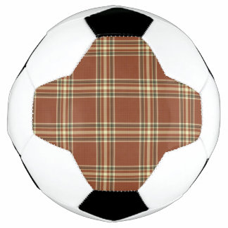 Bola de futebol do Tartan de Brown