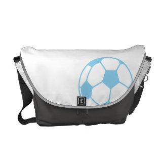 Bola de futebol dos azuis bebés bolsa mensageiro