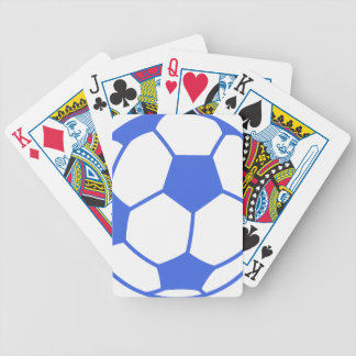 Bola de futebol dos azuis marinhos e do branco baralho para poker