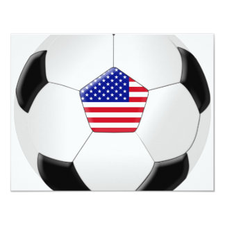 Bola de futebol dos E.U. Convite 10.79 X 13.97cm