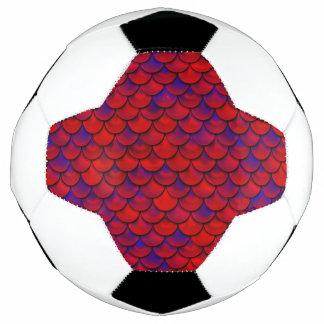 Bola De Futebol Falln escalas vermelhas e do roxo