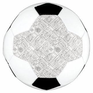 Bola De Futebol Fora do Doodle geométrico do Caixa-Abstrato