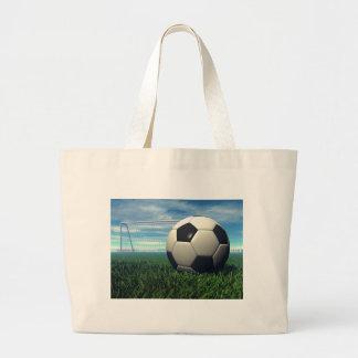 Bola de futebol (futebol) sacola tote jumbo