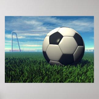 Bola de futebol (futebol) pôster