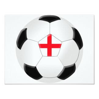 Bola de futebol - Inglaterra Convite 10.79 X 13.97cm
