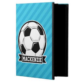 Bola de futebol; Listras de azul-céu
