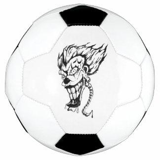 Bola de futebol má do palhaço