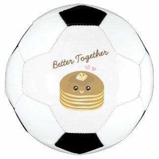Bola De Futebol Melhore junto a manteiga bonito Foodie engraçado