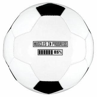 Bola De Futebol Muscles o exercício em andamento Z1l52