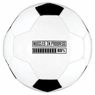 Bola De Futebol Muscles o exercício em andamento Z8gnr
