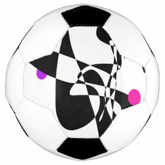 Bola De Futebol O azul é preto, amarelo é branco
