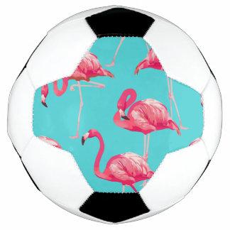 Bola De Futebol Pássaros cor-de-rosa do flamingo no fundo de
