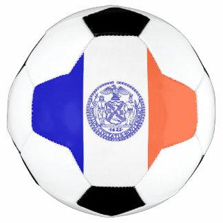 Bola de futebol patriótica com a bandeira da Nova