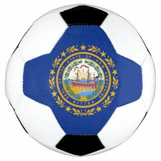 Bola de futebol patriótica com a bandeira de New