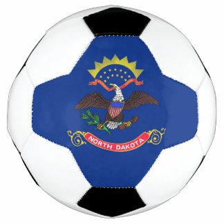 Bola de futebol patriótica com a bandeira de North
