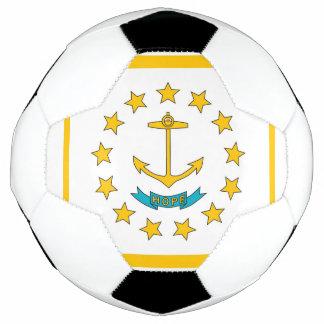 Bola de futebol patriótica com a bandeira de Rhode