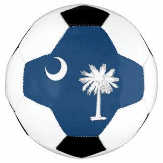 Bola de futebol patriótica com a bandeira de South