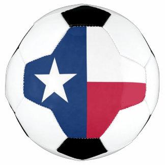 Bola de futebol patriótica com a bandeira de Texas