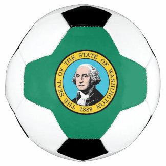 Bola de futebol patriótica com a bandeira do
