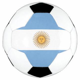 Bola de futebol patriótica com bandeira de
