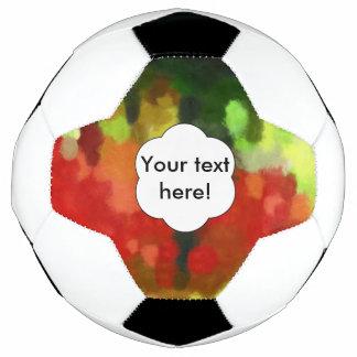 Bola De Futebol Pintura verde vermelha