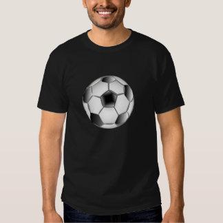 Bola de futebol preto e branco camiseta