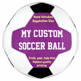 Bola De Futebol ROXO impresso costume do futebol do futebol da
