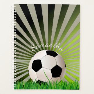 Bola de futebol semanal/mensalmente planejador