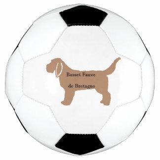Bola De Futebol Silhueta do nome da cor de Basset Fauve de