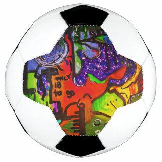 Bola De Futebol somente 18 dimensões a ir. pintura abstrata