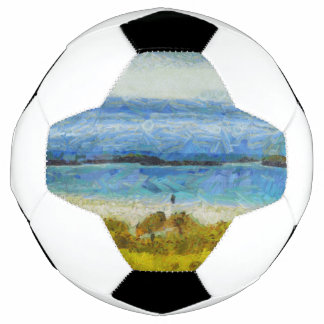 Bola De Futebol Tira da terra na água