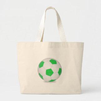 Bola de futebol verde bolsa