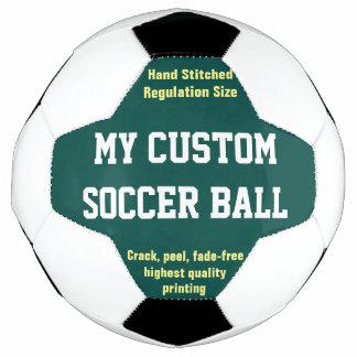 Bola De Futebol VERDE impresso costume do futebol do futebol da