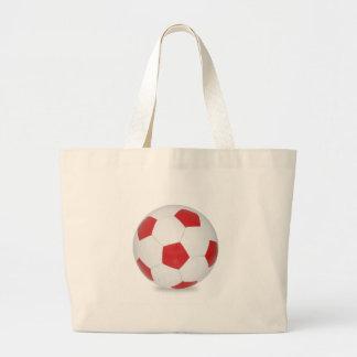 Bola de futebol vermelha bolsa
