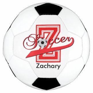 Bola De Futebol Vermelho do nome   da arte   DIY da palavra da